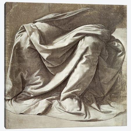 Drapery study for a Seated Figure, c.1475-80  Canvas Print #BMN2410} by Leonardo da Vinci Art Print