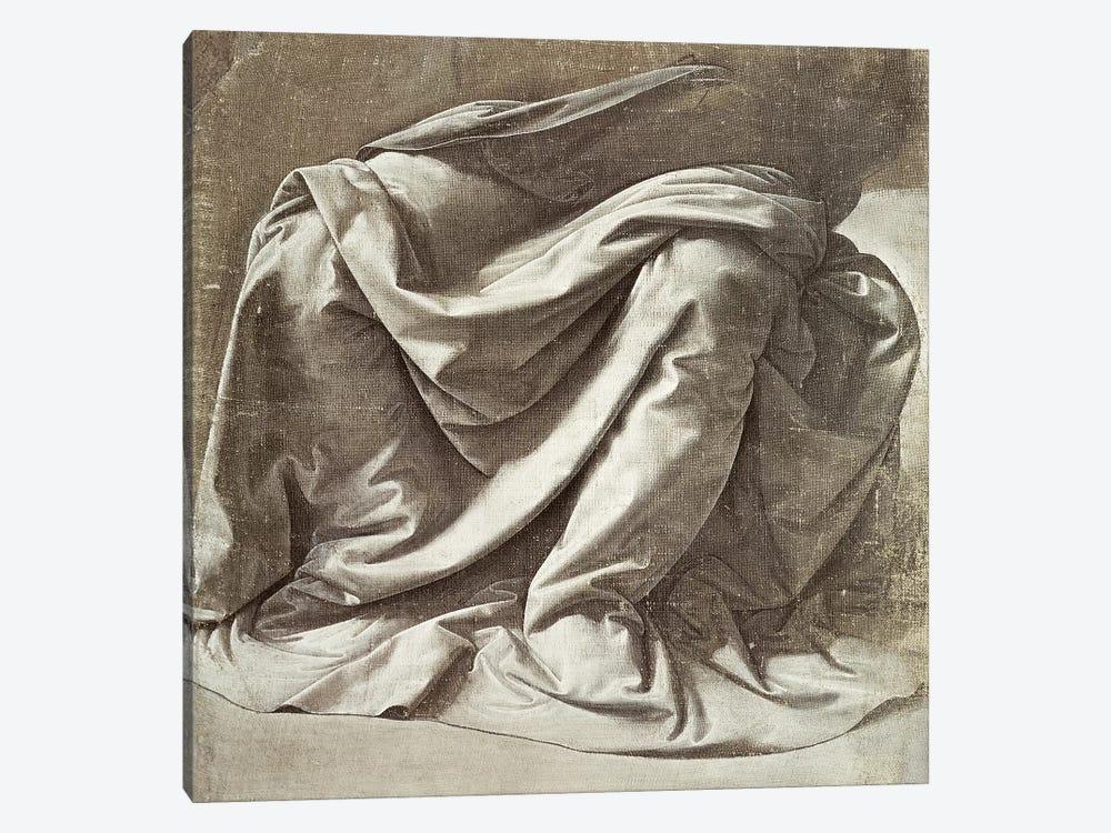 Drapery study for a Seated Figure, c.1475-80  by Leonardo da Vinci 1-piece Art Print
