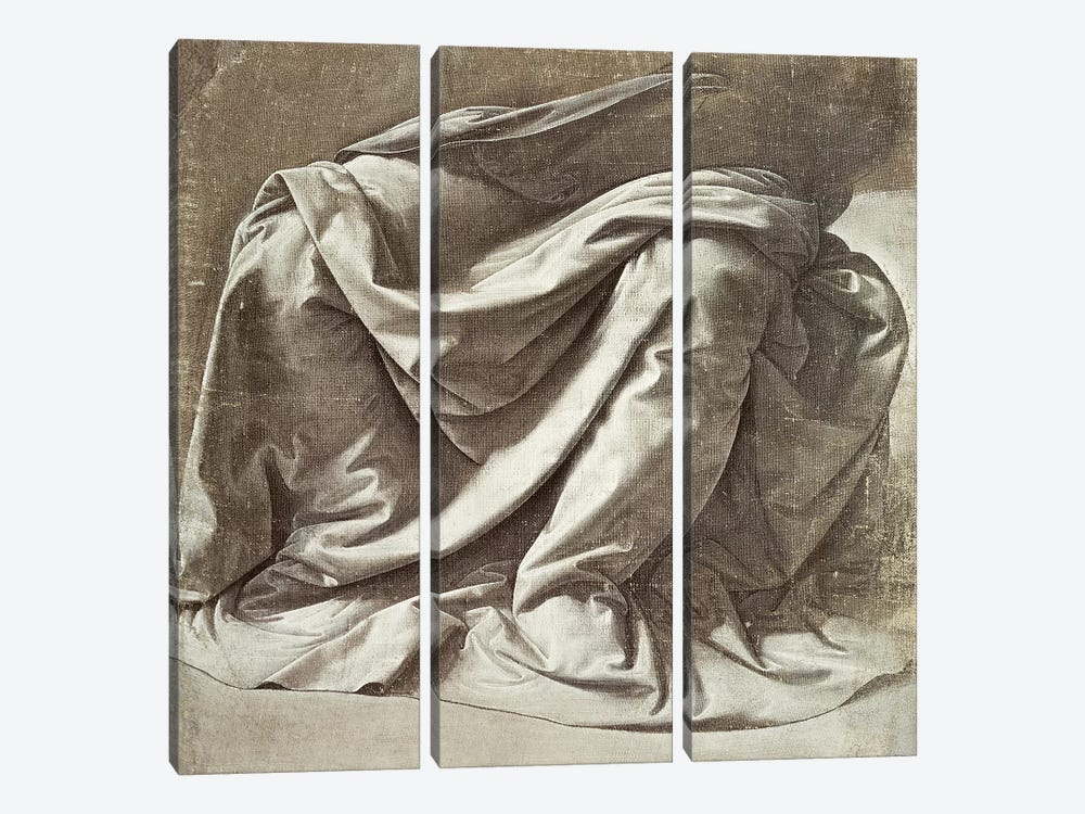 Drapery study for a Seated Figure, c.1475-80  by Leonardo da Vinci 3-piece Art Print