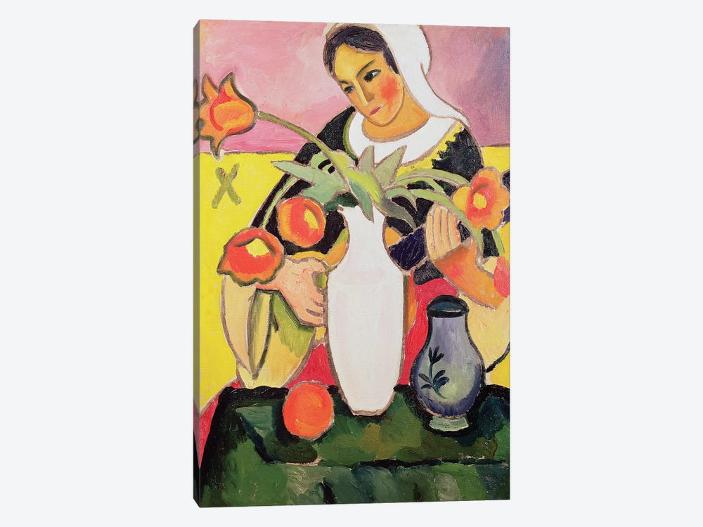 The Lute Player, 1910  by August Macke 1-piece Canvas Art