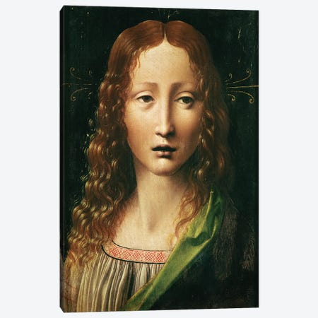 Head of the Saviour  Canvas Print #BMN2412} by Leonardo da Vinci Art Print