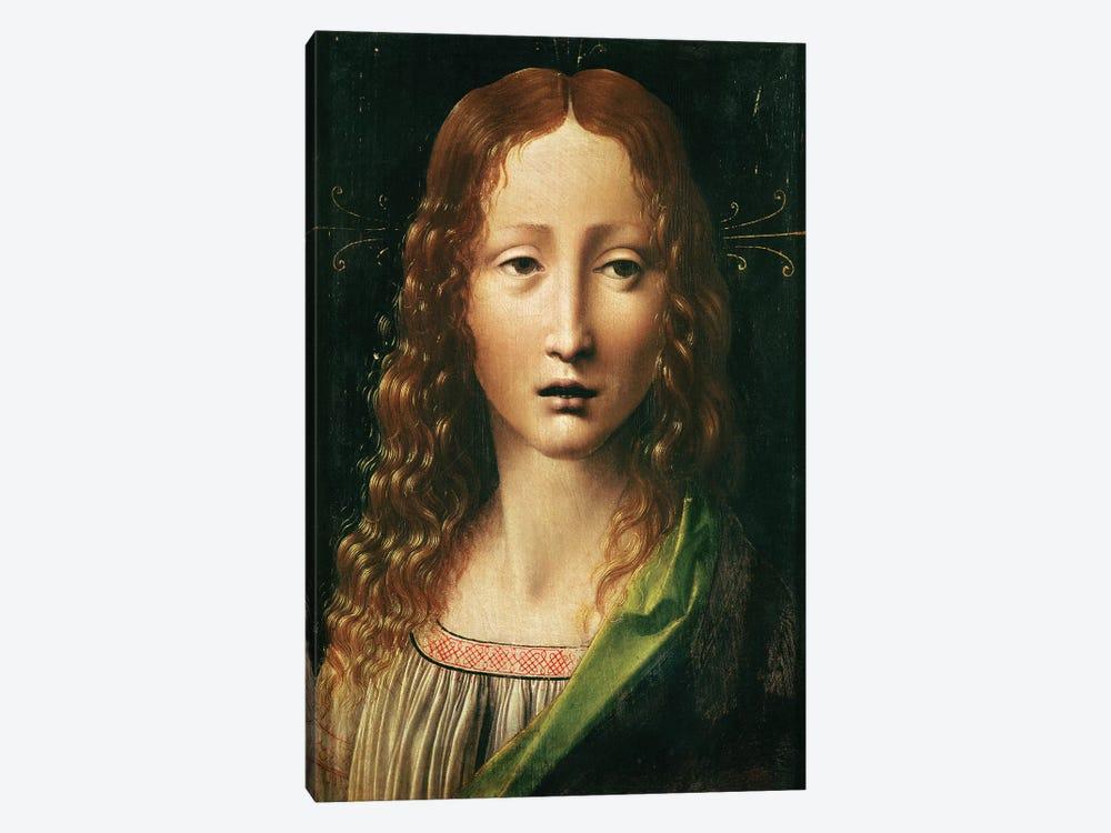 Head of the Saviour  by Leonardo da Vinci 1-piece Canvas Art Print