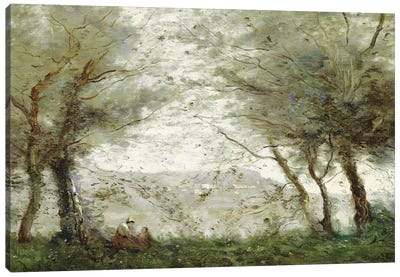 The Pond at Ville-d'Avray through the Trees, 1871  Canvas Art Print