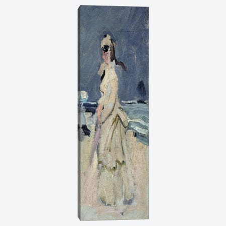 Camille on the Beach, 1870-71  Canvas Print #BMN2415} by Claude Monet Canvas Artwork
