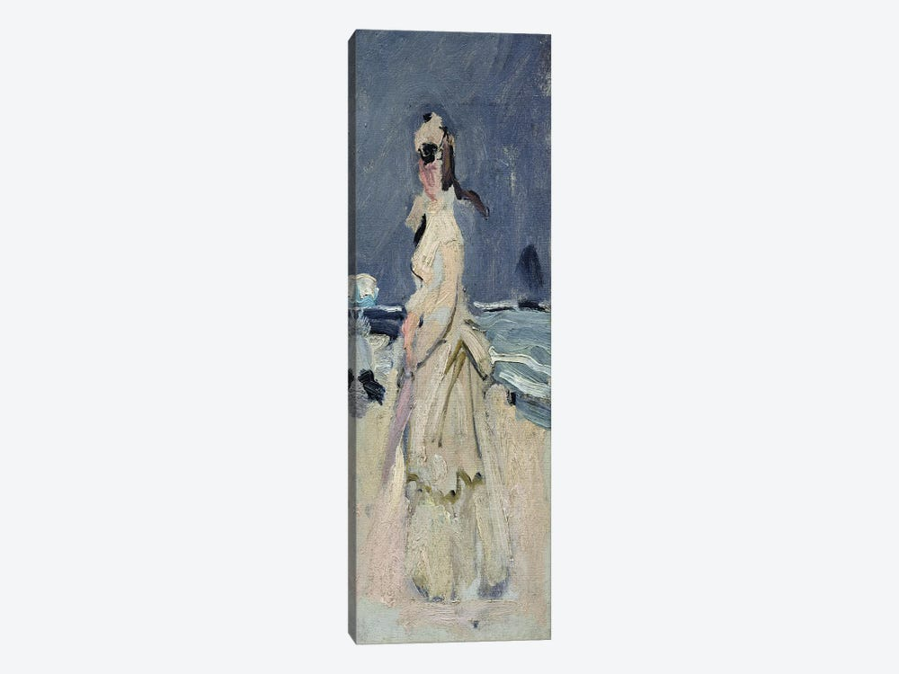 Camille on the Beach, 1870-71  by Claude Monet 1-piece Canvas Wall Art