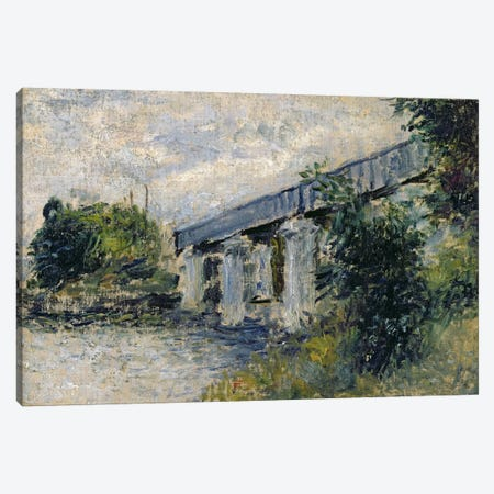 Railway Bridge at Argenteuil, 1874  Canvas Print #BMN2417} by Claude Monet Canvas Artwork