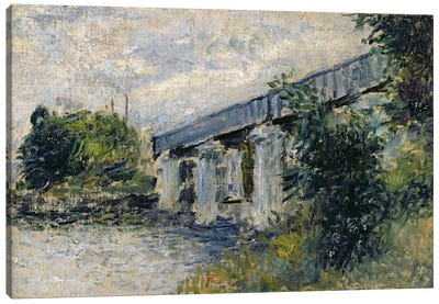 Railway Bridge at Argenteuil, 1874  Canvas Print #BMN2417