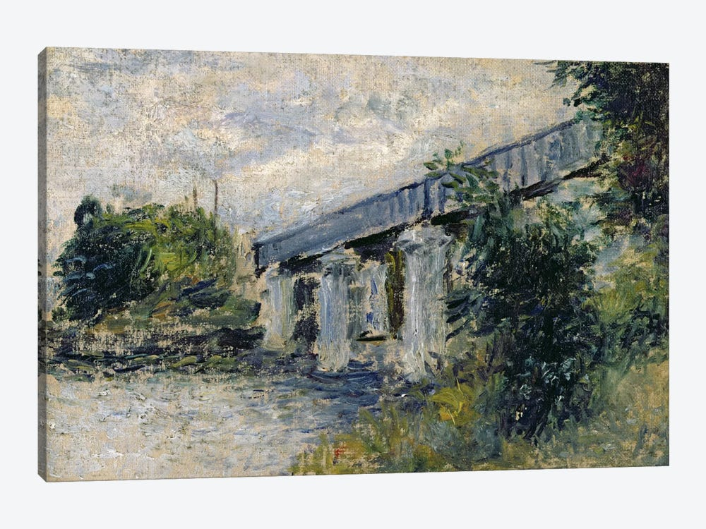 Railway Bridge at Argenteuil, 1874 by Claude Monet 1-piece Canvas Artwork