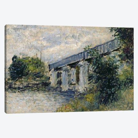 Railway Bridge at Argenteuil, 1874  Canvas Print #BMN2417} by Claude Monet Canvas Artwork