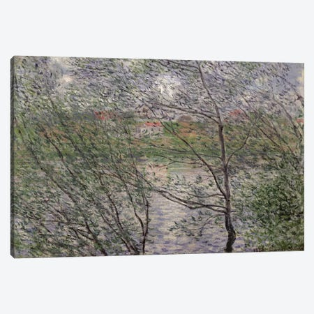 The Banks of the Seine or, Spring through the Trees, 1878  Canvas Print #BMN2418} by Claude Monet Canvas Art Print