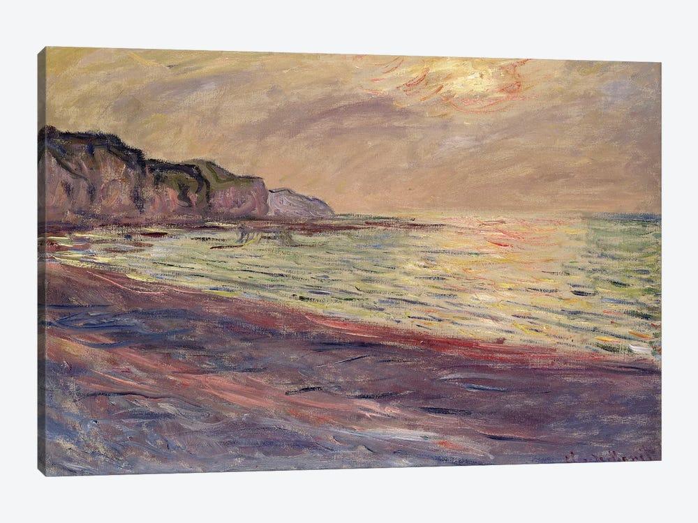 The Beach at Pourville, Setting Sun, 1882  by Claude Monet 1-piece Canvas Art