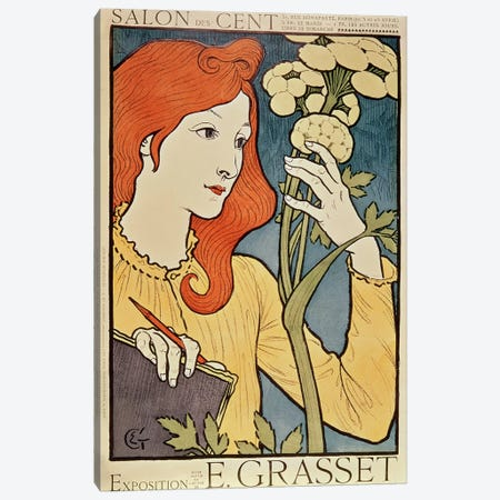 Salon des Cent, 1894  Canvas Print #BMN241} by Eugene Grasset Canvas Art