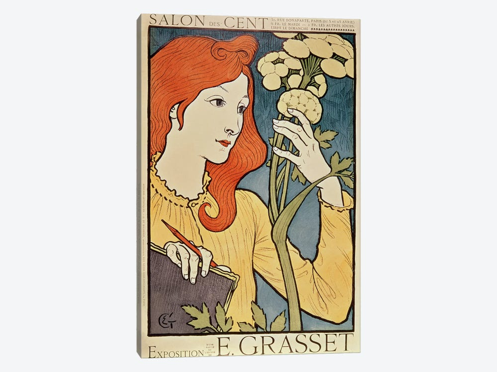 Salon des Cent, 1894  by Eugene Grasset 1-piece Canvas Art Print