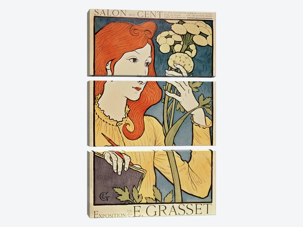 Salon des Cent, 1894 by Eugene Grasset 3-piece Canvas Art Print