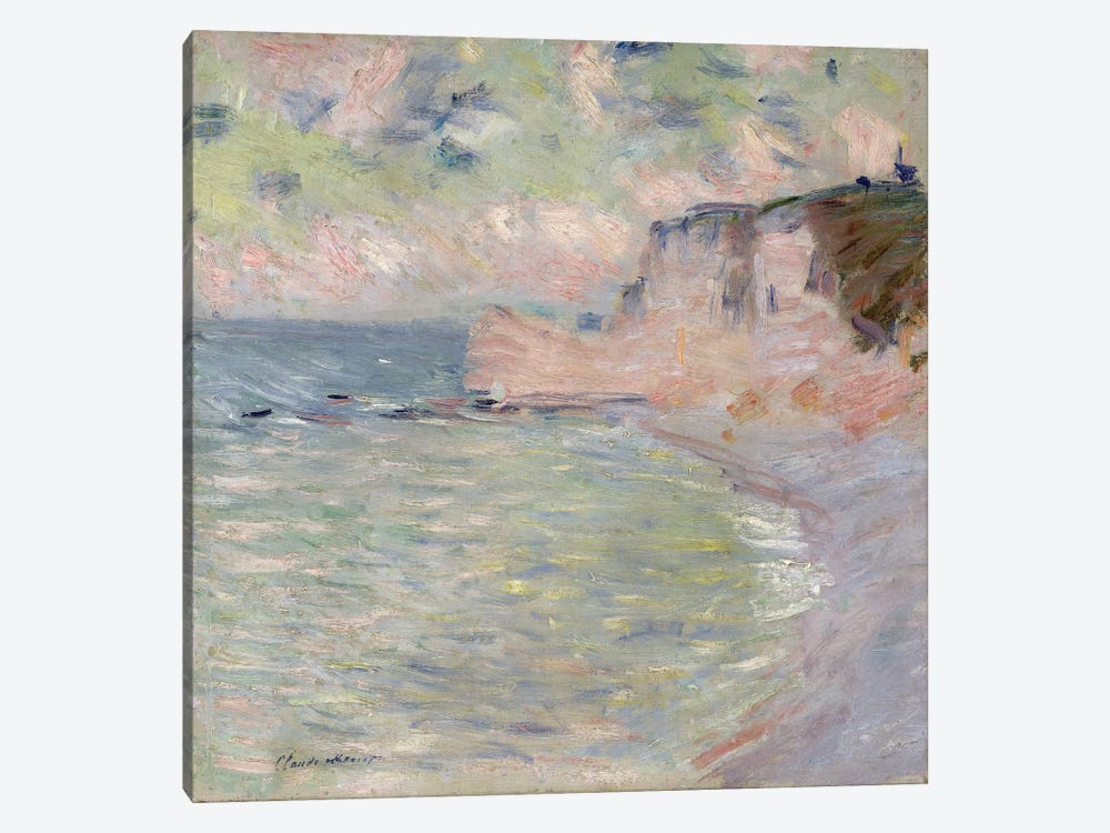 Cliffs and the Porte d'Amont, Morning Effect, 1885  by Claude Monet 1-piece Canvas Art