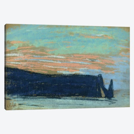 The Cliff at Etretat, c.1885  Canvas Print #BMN2421} by Claude Monet Canvas Wall Art