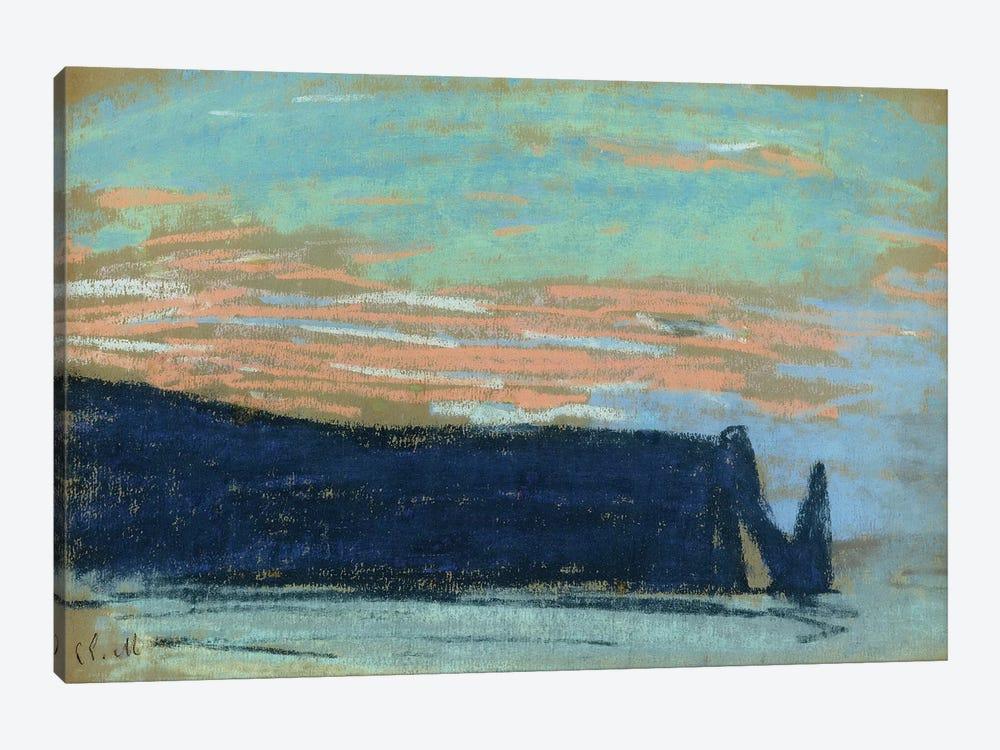 The Cliff at Etretat, c.1885  by Claude Monet 1-piece Canvas Art Print