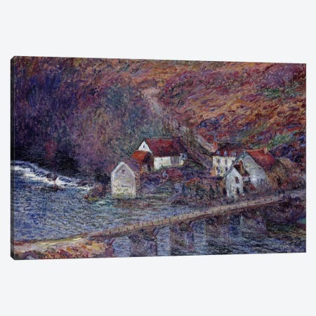 The Bridge at Vervy, 1889  Canvas Print #BMN2422} by Claude Monet Canvas Art