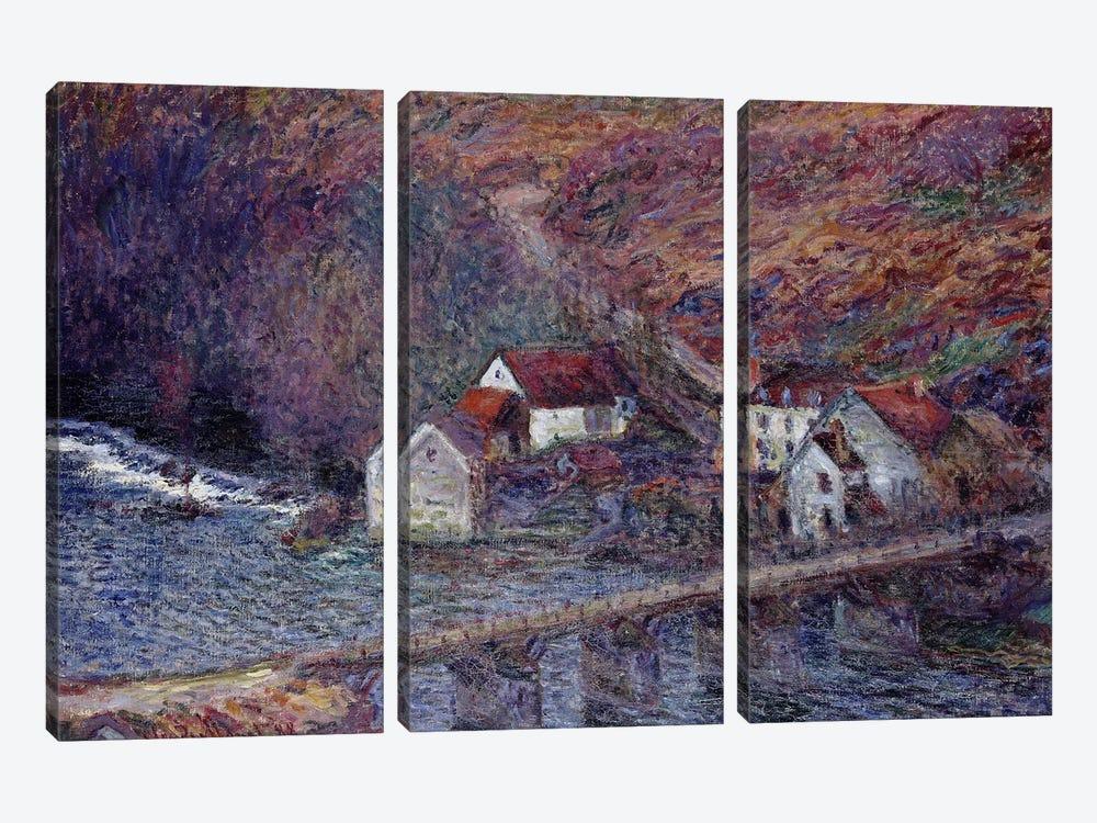 The Bridge at Vervy, 1889  by Claude Monet 3-piece Canvas Artwork