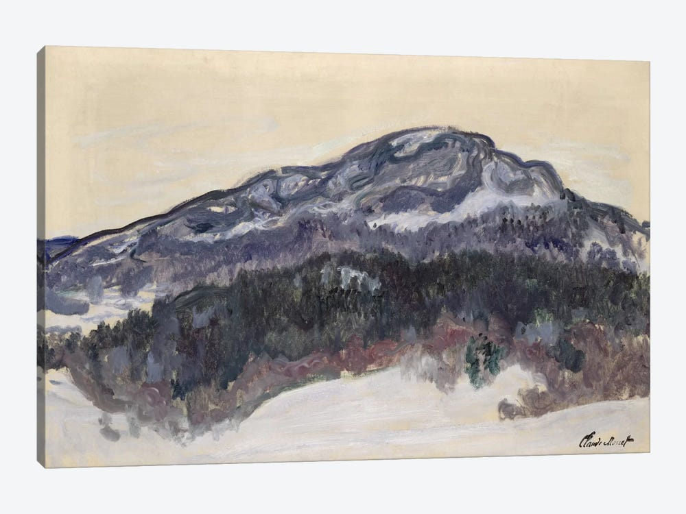 Mount Kolsaas, Norway, 1895 by Claude Monet 1-piece Canvas Print