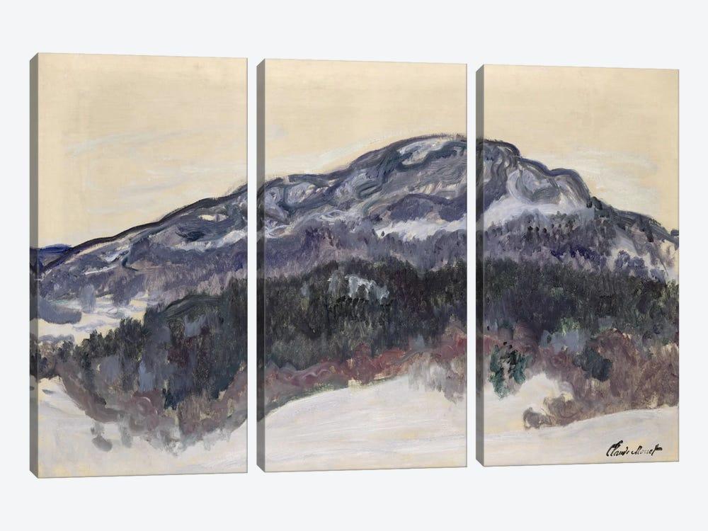 Mount Kolsaas, Norway, 1895  by Claude Monet 3-piece Canvas Art Print