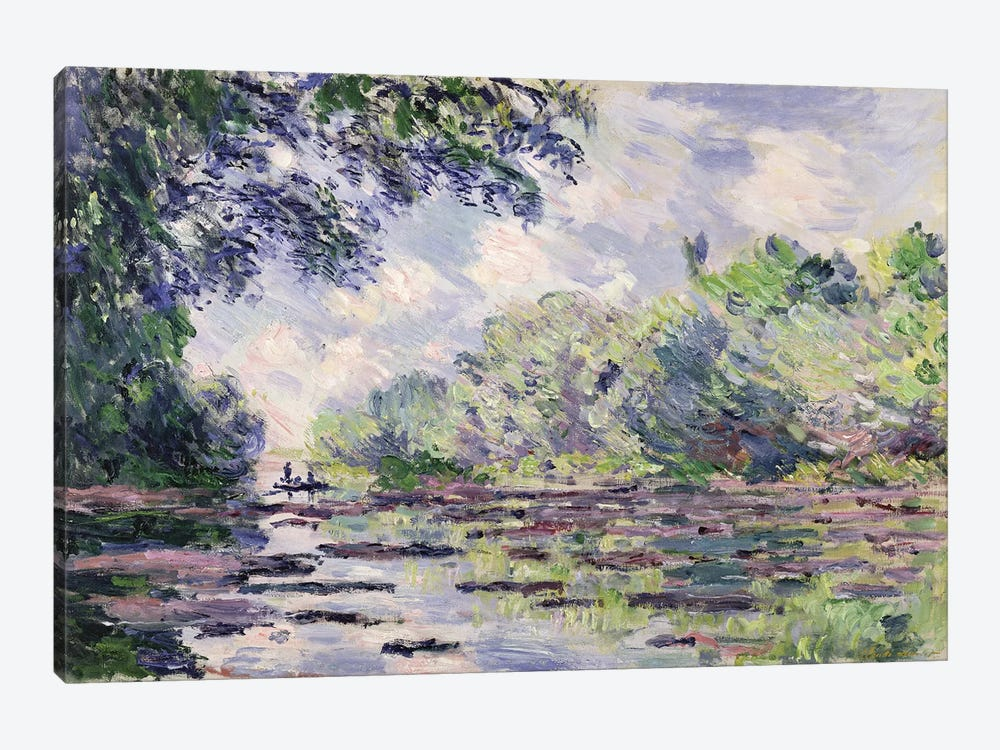 The Seine at Giverny, 1885  by Claude Monet 1-piece Canvas Artwork