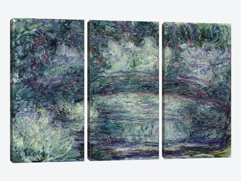 The Japanese Bridge, 1918-19   by Claude Monet 3-piece Canvas Artwork