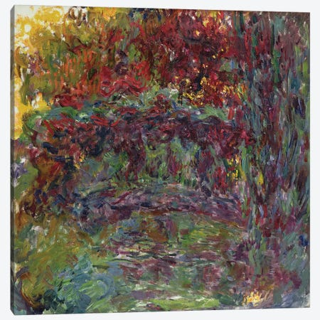 The Japanese Bridge at Giverny, 1918-24  Canvas Print #BMN2427} by Claude Monet Art Print
