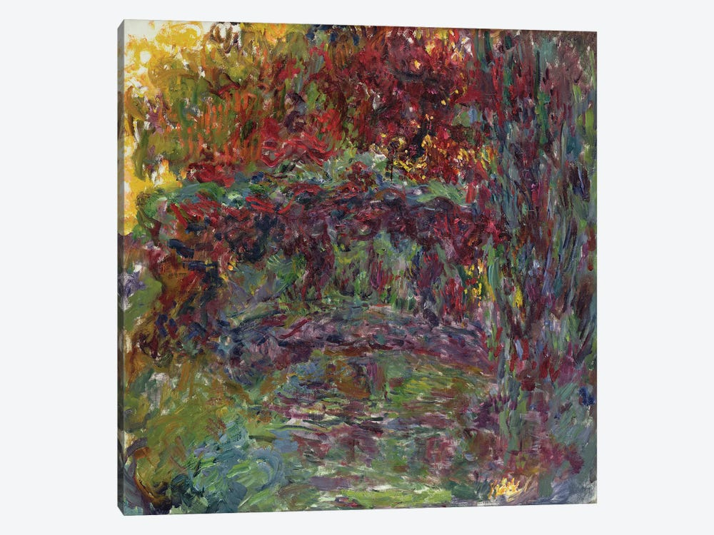 The Japanese Bridge at Giverny, 1918-24  by Claude Monet 1-piece Canvas Art Print