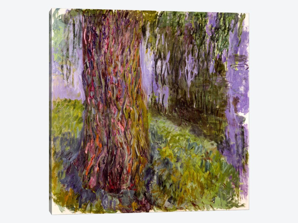 Weeping Willow and the Waterlily Pond, 1916-19 by Claude Monet 1-piece Canvas Wall Art