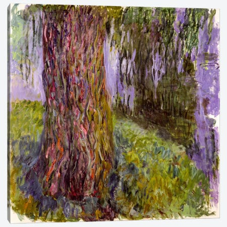 Weeping Willow and the Waterlily Pond, 1916-19  Canvas Print #BMN2435} by Claude Monet Canvas Wall Art