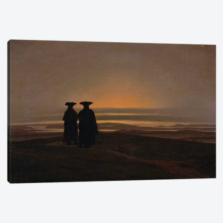 Sunset  Canvas Print #BMN2439} by Caspar David Friedrich Canvas Art Print