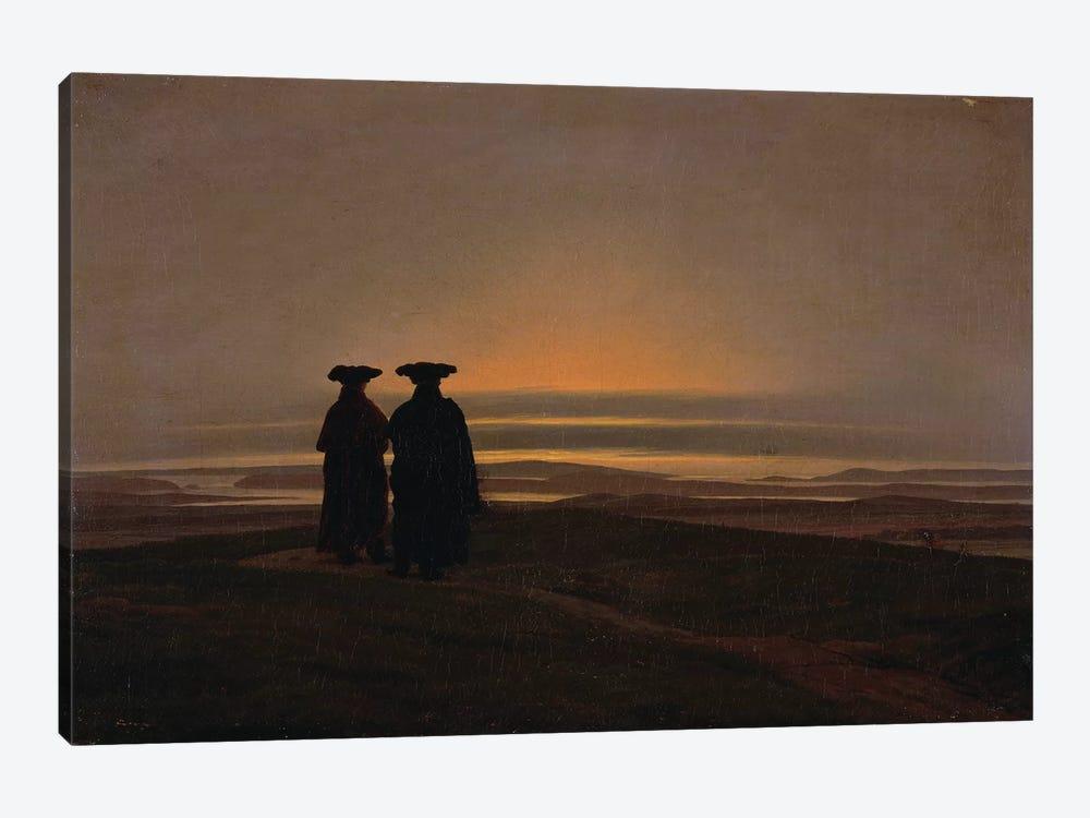 Sunset  by Caspar David Friedrich 1-piece Canvas Art