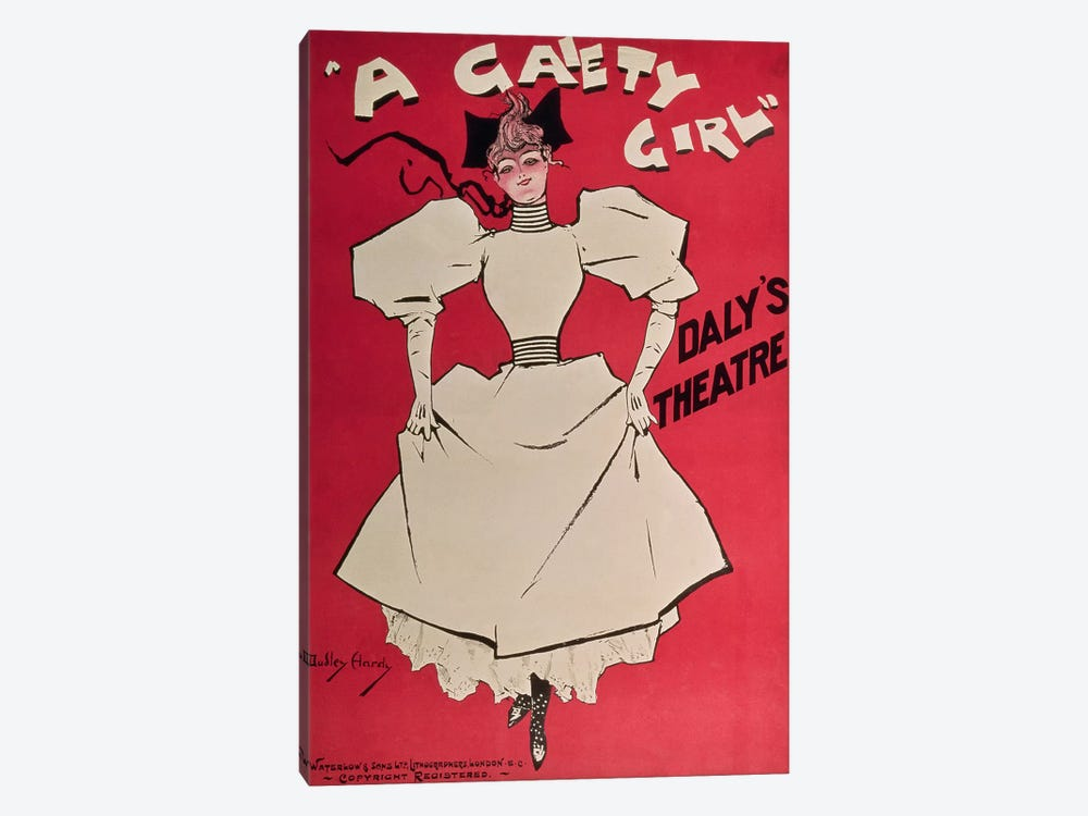 Poster advertising 'A Gaiety Girl' at the Daly's Theatre, Great Britain, 1890s by Dudley Hardy 1-piece Art Print