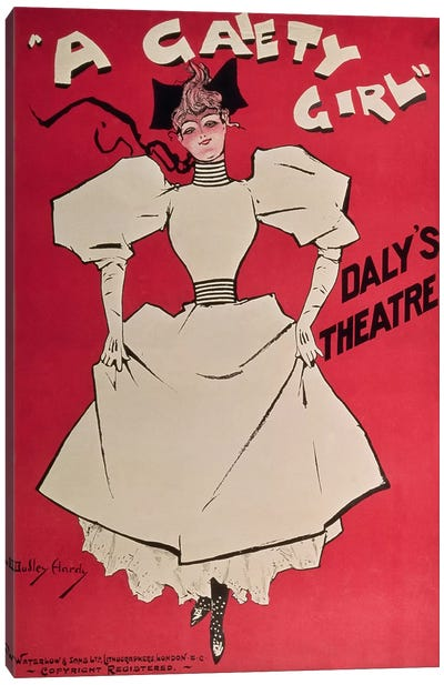 Poster advertising 'A Gaiety Girl' at the Daly's Theatre, Great Britain, 1890s  Canvas Art Print
