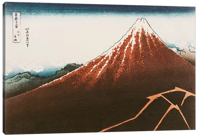 Fuji above the Lightning', from the series '36 Views of Mt. Fuji' Canvas Art Print
