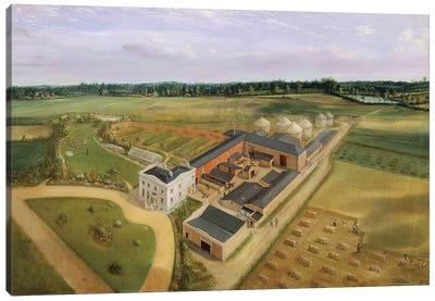 Tiptree Hall and Farm, Essex, c.1850-60  Canvas Art Print