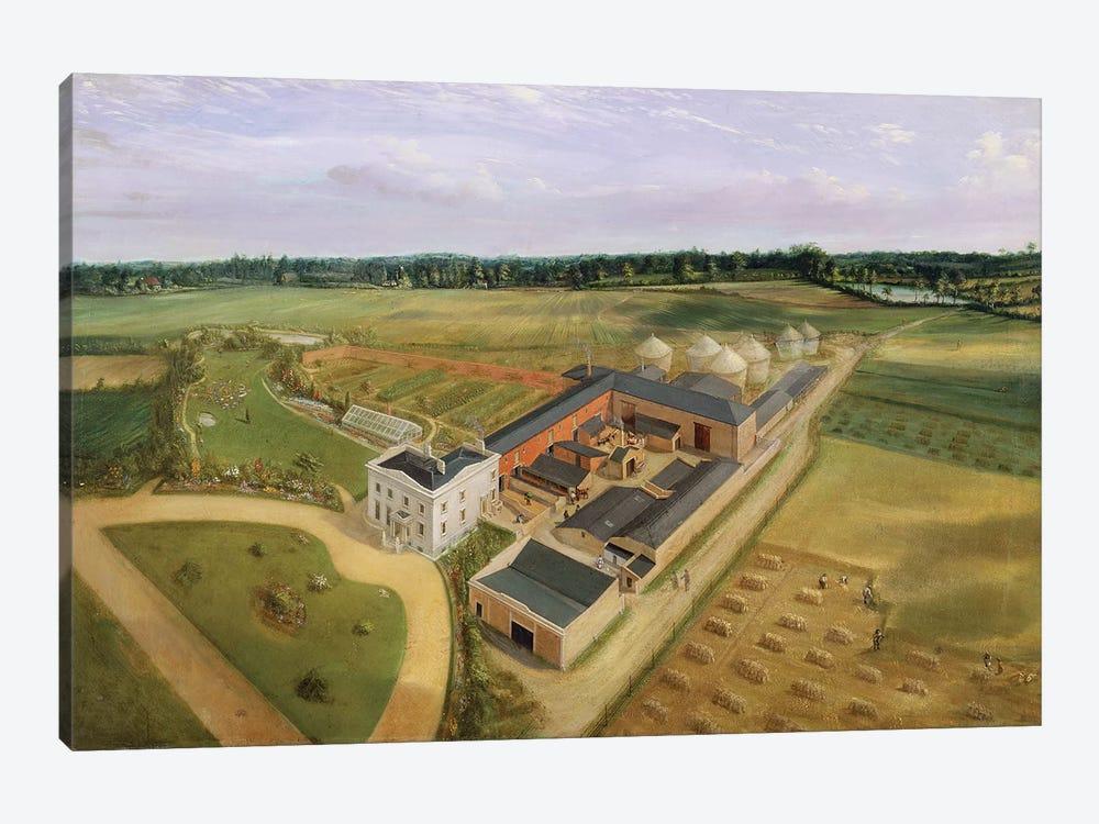 Tiptree Hall and Farm, Essex, c.1850-60  by William Brown 1-piece Canvas Artwork