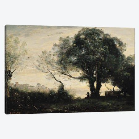 Souvenir of Castel Gandolfo  Canvas Print #BMN2445} by Jean-Baptiste-Camille Corot Canvas Print