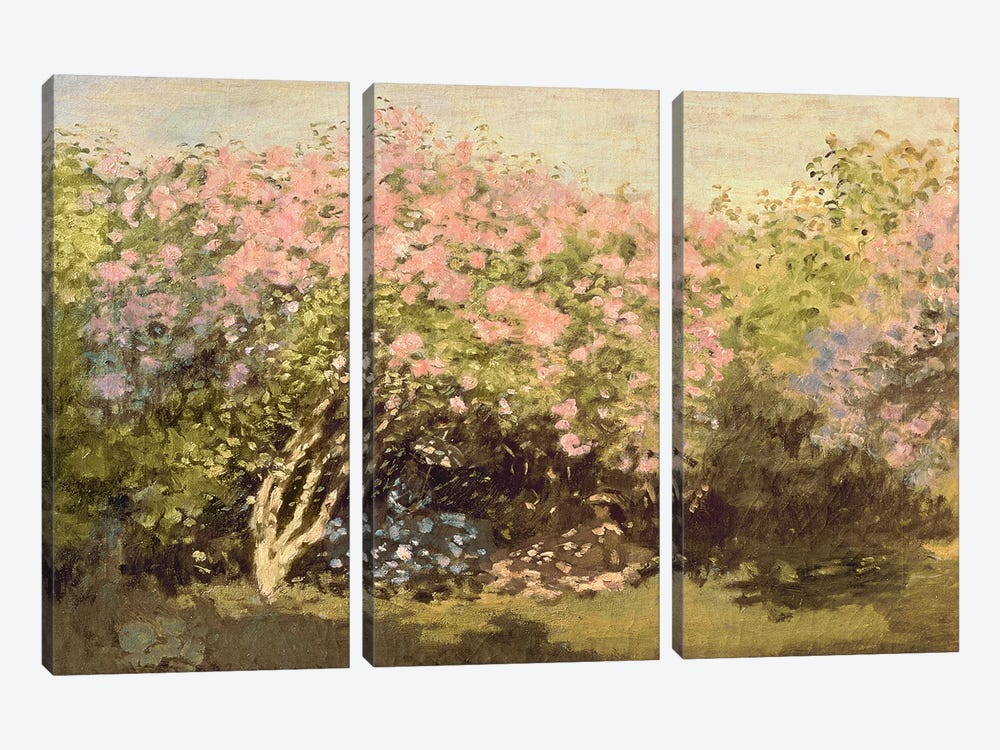 Lilac in the Sun, 1873  by Claude Monet 3-piece Canvas Wall Art