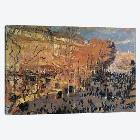 Study for 'The Boulevard des Capucines', 1874  Canvas Print #BMN2447} by Claude Monet Canvas Print