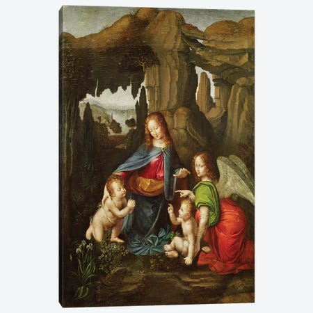 Madonna of the Rocks  Canvas Print #BMN2448} by Leonardo da Vinci Canvas Wall Art
