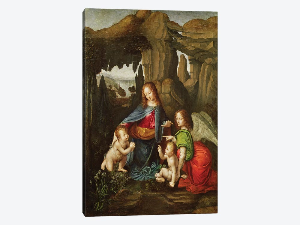 Madonna of the Rocks  by Leonardo da Vinci 1-piece Canvas Wall Art