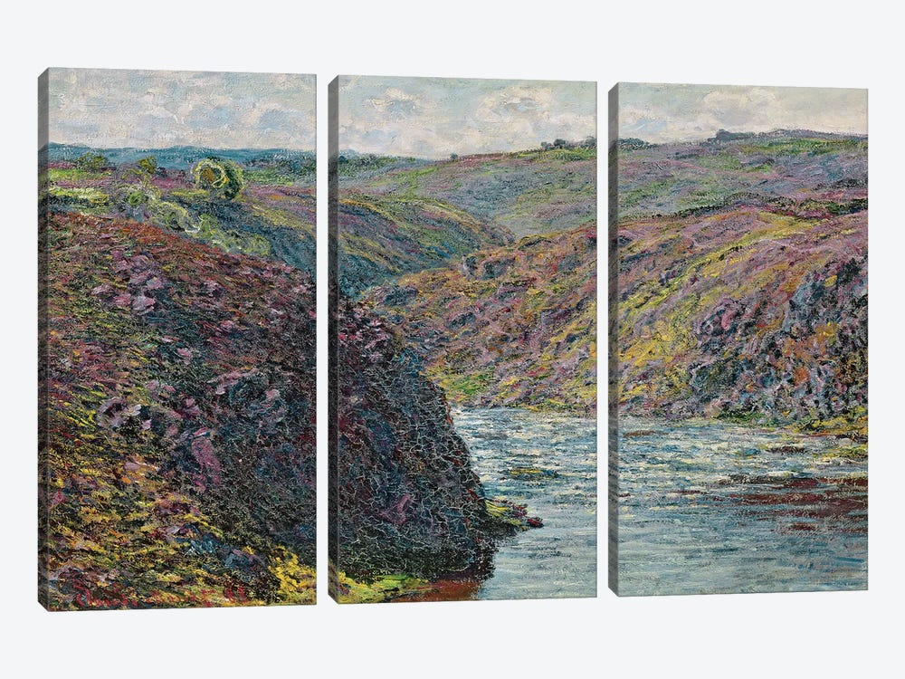 Ravines of the Creuse at the End of the Day, 1889  by Claude Monet 3-piece Canvas Print