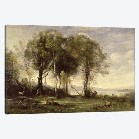 The Goatherds of Castel Gandolfo, 1866  Canvas Print #BMN2450} by Jean-Baptiste-Camille Corot Canvas Art Print