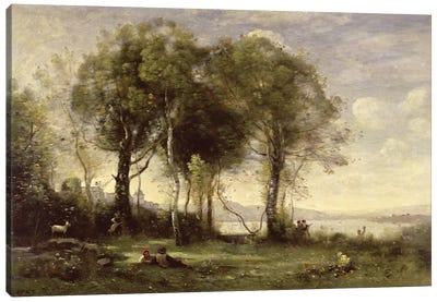 The Goatherds of Castel Gandolfo, 1866  Canvas Art Print