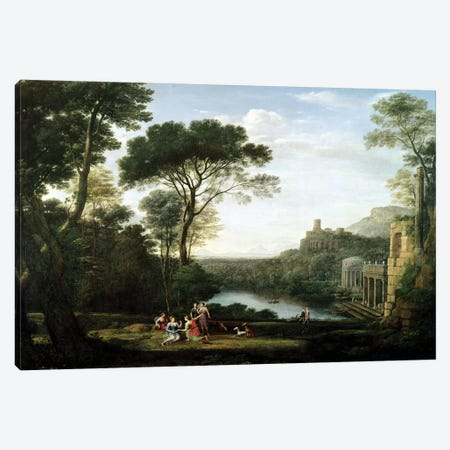 Landscape with the Nymph Egeria  Canvas Print #BMN2452} by Claude Lorrain Canvas Print