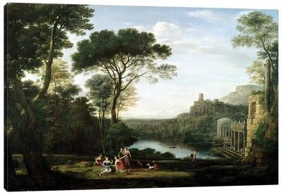 Landscape with the Nymph Egeria  Canvas Art Print
