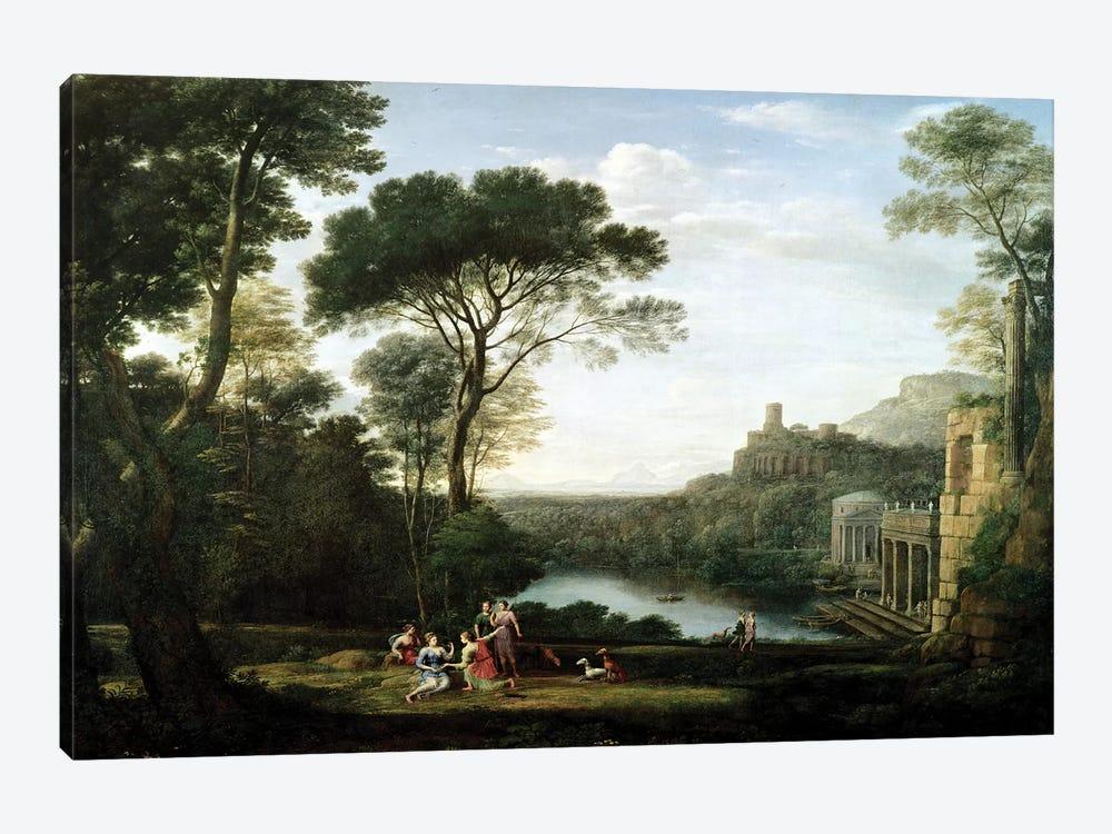Landscape with the Nymph Egeria  by Claude Lorrain 1-piece Art Print