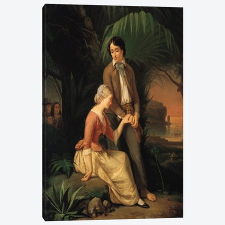 Paul and Virginie  Canvas Print #BMN2453} by French School Canvas Print